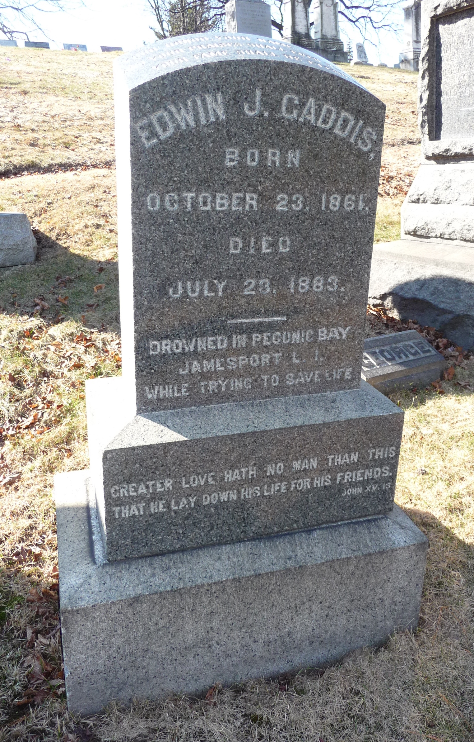 This Tombstone Stopped Me In My Tracks