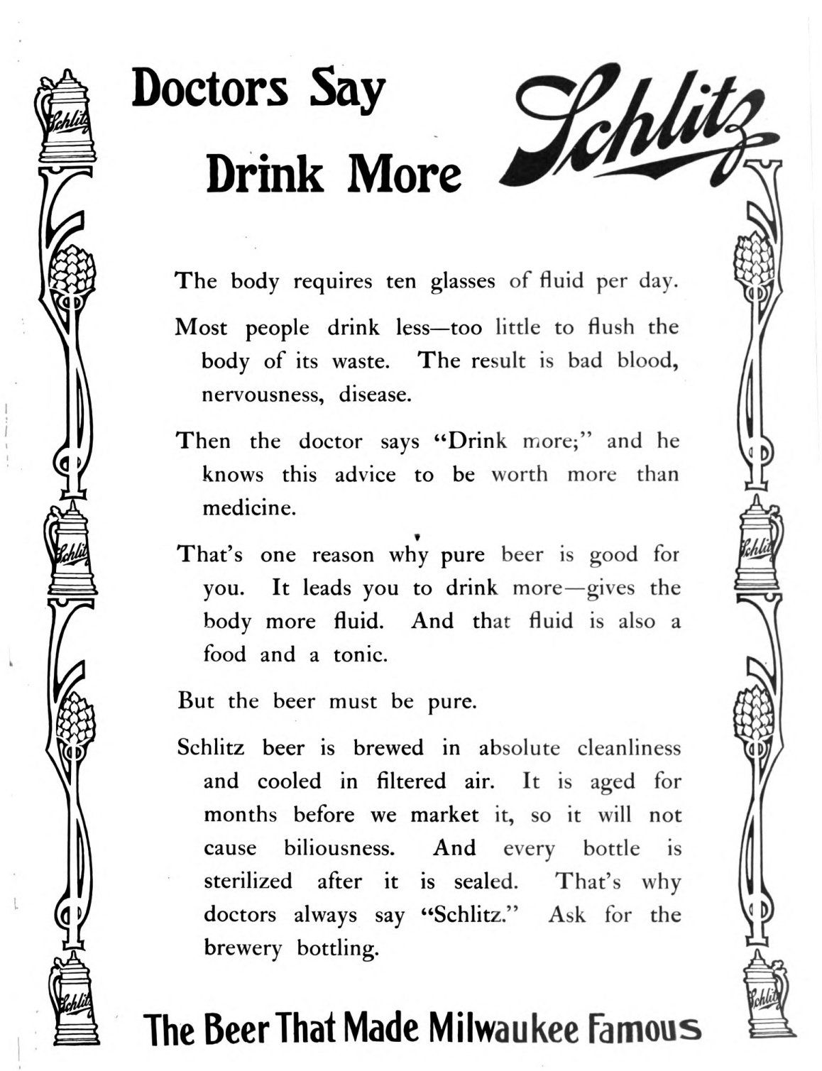 A Schlitz Beer Ad You Won't Believe