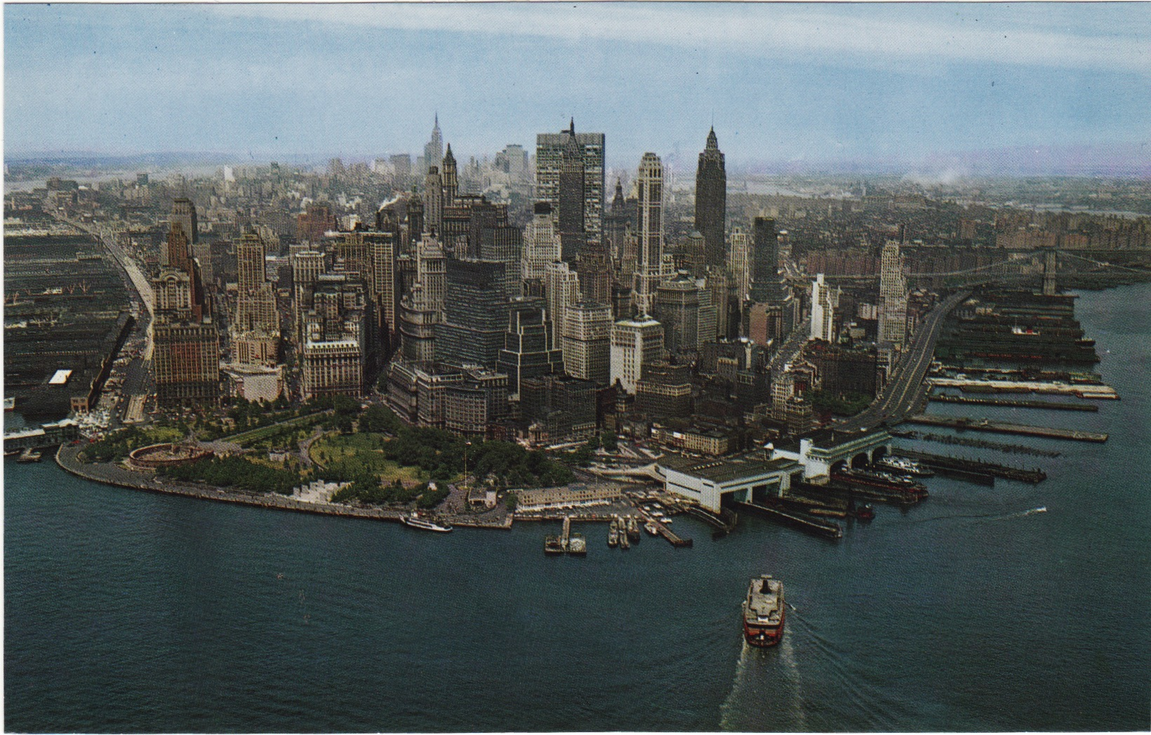 Old New York In Postcards #16 - 1960s & 70s Aerial Views of Manhattan In Color