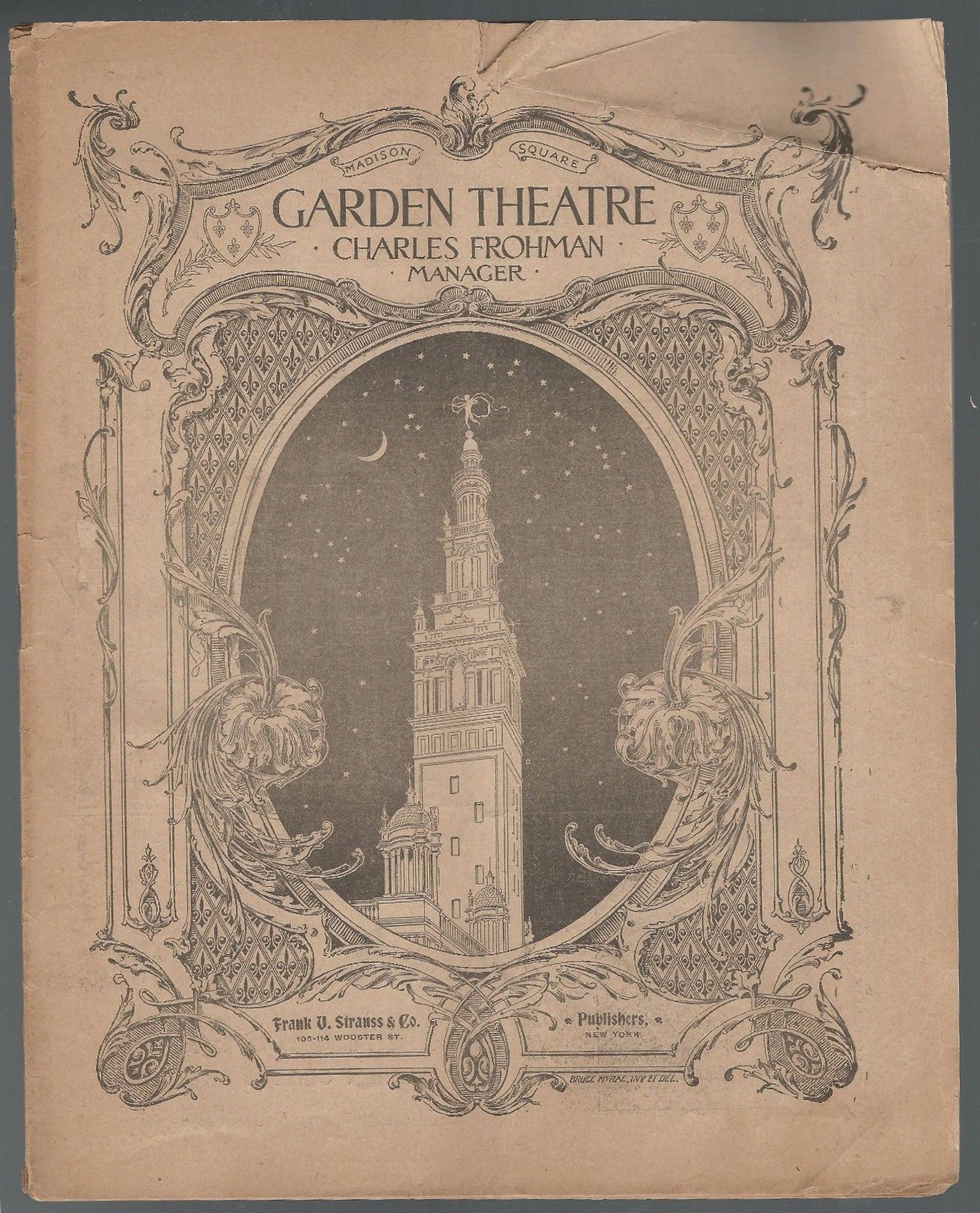 Who Was Appearing At The Madison Square Garden Theatre 116 Years Ago Today
