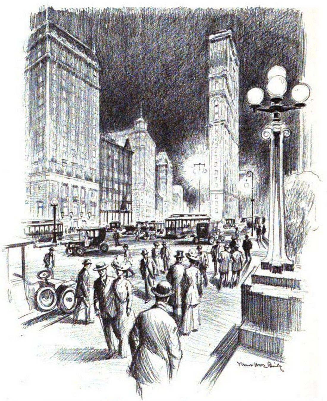 New York In 1911 As Drawn By Vernon Howe Bailey