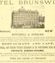 Historic List Of Every Hotel In New York In 1882