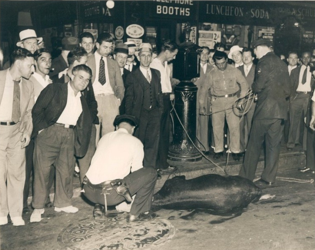 Look What The Cops Caught In Times Square - 1935