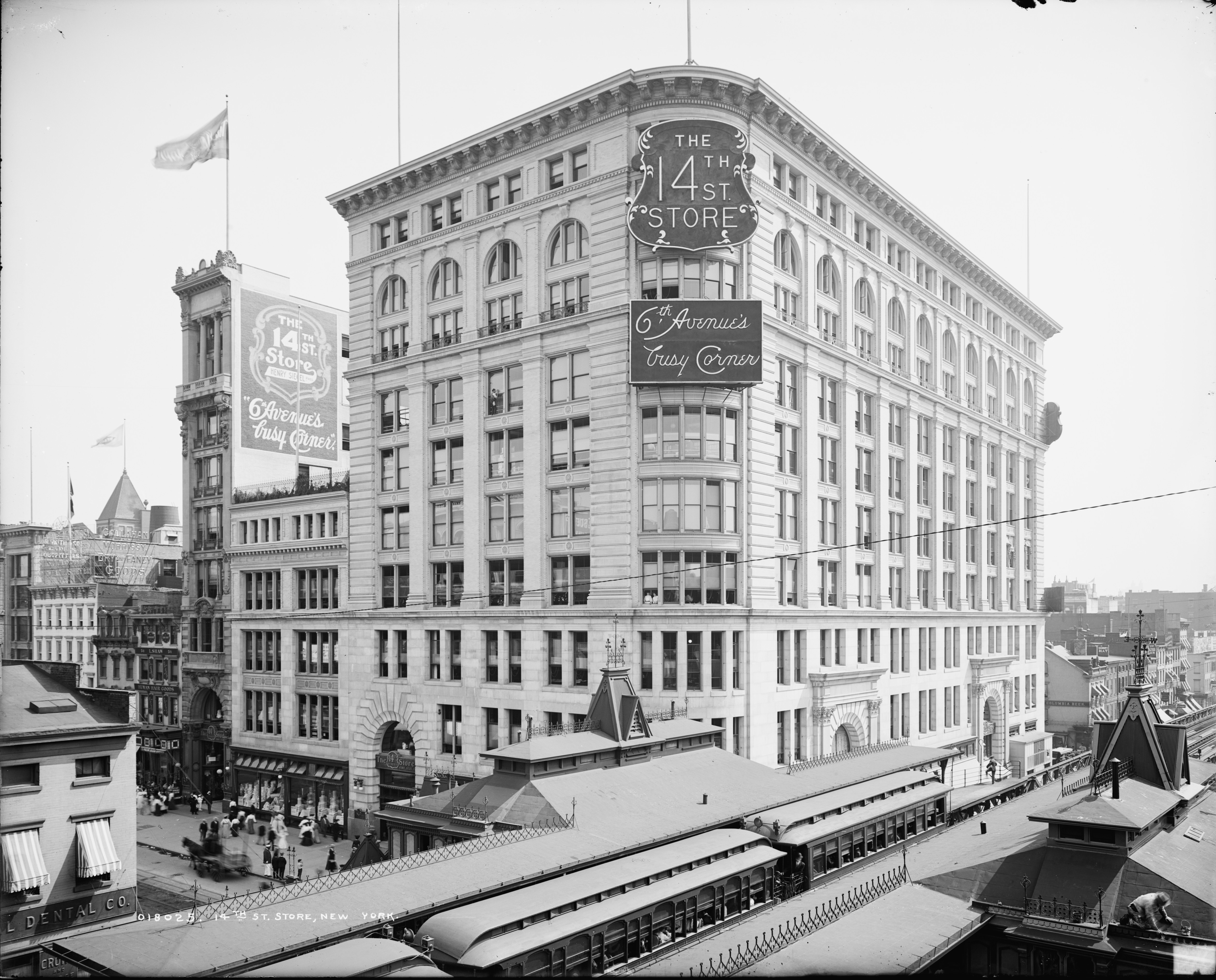 Old New York In Photos #88 - 14th Street & 6th Ave. c. 1905