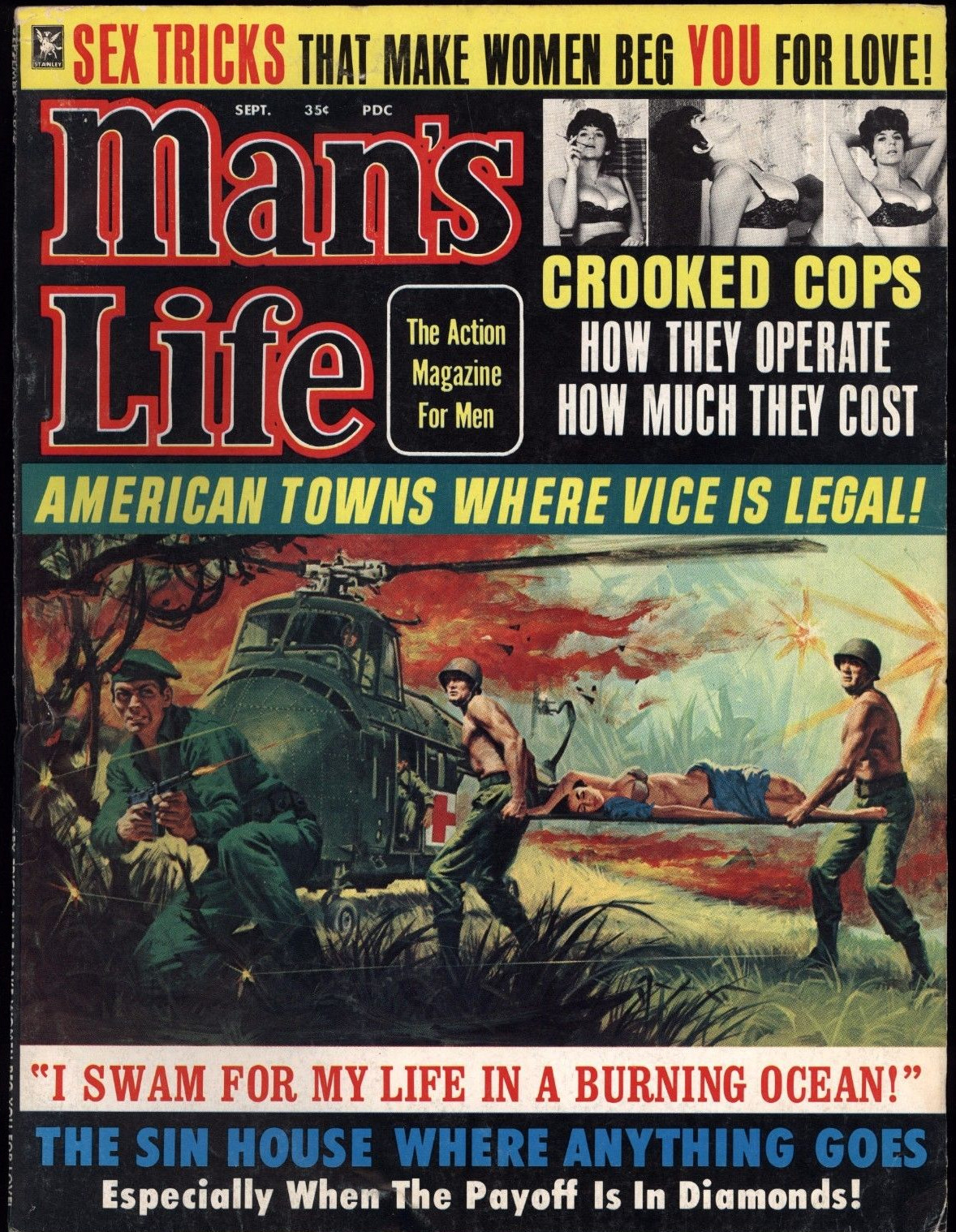 """Hilarious Headlines From The Covers Of """"Man's Life"""" Magazine In The 1950s & 60s"""