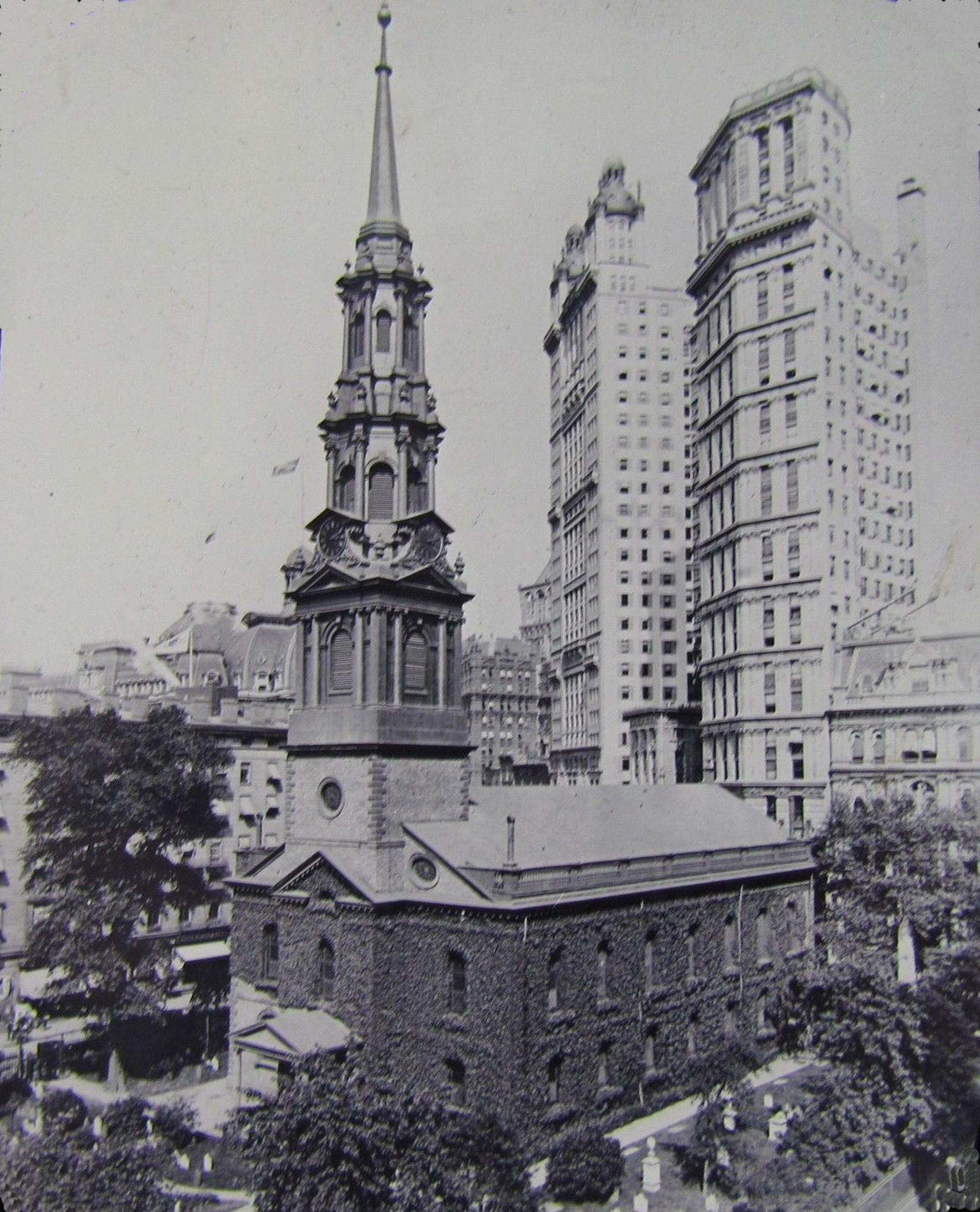 Old New York In Photos #105 - St. Paul's Chapel, St. Paul Building & Park Row Building